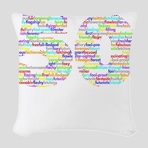 50 black Woven Throw Pillow