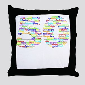 50 black Throw Pillow