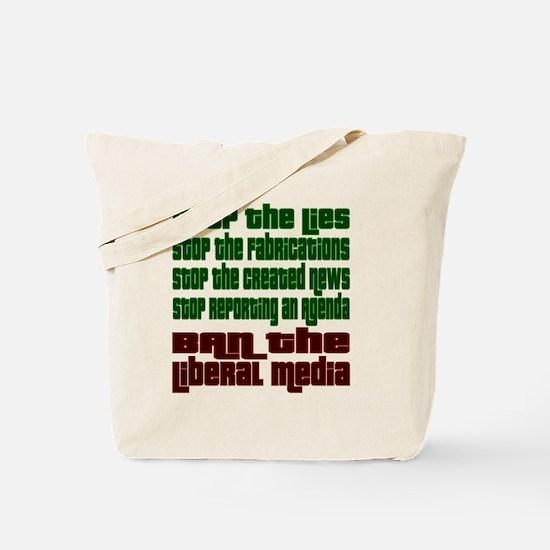BanLiberalMedia Tote Bag
