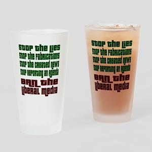 BanLiberalMedia Drinking Glass