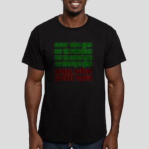 BanLiberalMedia Men's Fitted T-Shirt (dark)