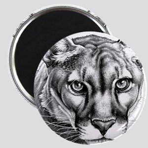 Panther Grayscale Magnet