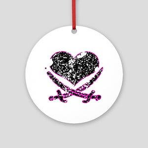 Pirate Heart Ornament (Round)