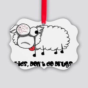sheep2 Picture Ornament