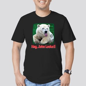 polarbeartongue Men's Fitted T-Shirt (dark)