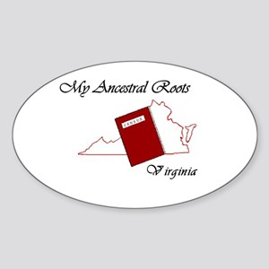 Ancestral Roots Virginia Oval Sticker