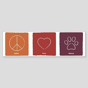 peaceloverescue_fallcolors Sticker (Bumper)