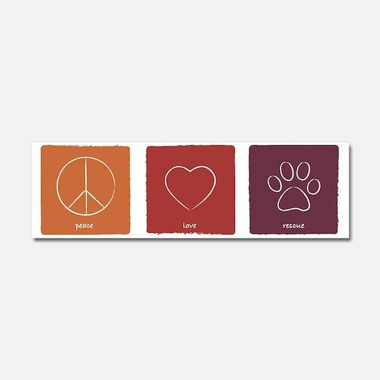 peaceloverescue_fallcolors Car Magnet 10 x 3