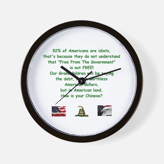 Cute National debt Wall Clock