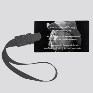teddy_roosevelt_QUOTE_big Large Luggage Tag