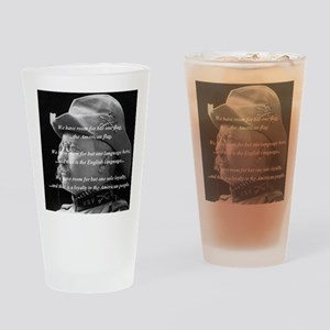 teddy_roosevelt_QUOTE_big Drinking Glass