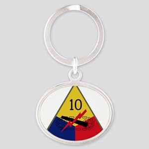 10th Armored Division Oval Keychain