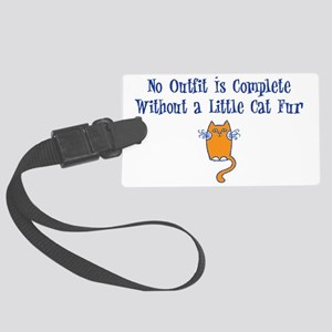 cat-fur-light Large Luggage Tag