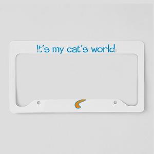cats-world-dark License Plate Holder