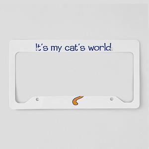 cats-world-light License Plate Holder