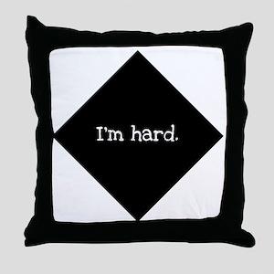 hard Throw Pillow
