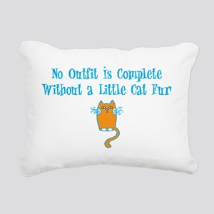 cat-fur-dark Rectangular Canvas Pillow
