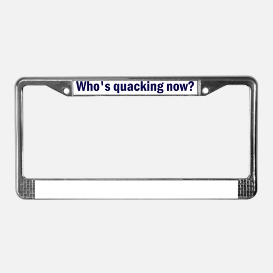 Quacking_blue License Plate Frame