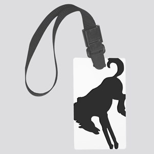 bucknbroncoblacklogo Large Luggage Tag