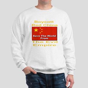 boycott_china_savetheworld_2010_goldfon Sweatshirt