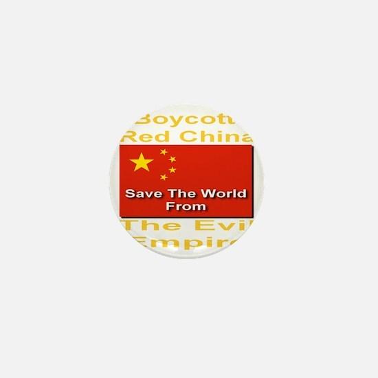 boycott_china_savetheworld_2010_goldfo Mini Button