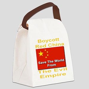 boycott_china_savetheworld_2010_g Canvas Lunch Bag