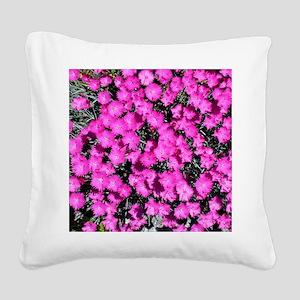 Dianthus Throw Pillow Square Canvas Pillow