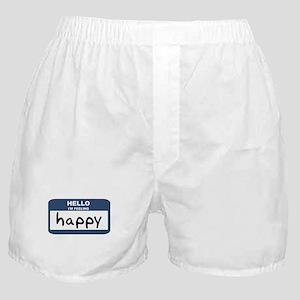 Feeling happy Boxer Shorts