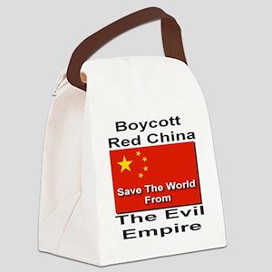 boycott_china_savetheworld_2010 Canvas Lunch Bag
