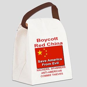 boycott_china_save_america_2010tr Canvas Lunch Bag