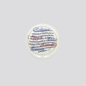 1st Amendment Mini Button