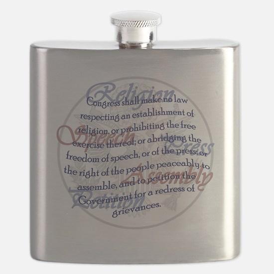 1st Amendment Flask