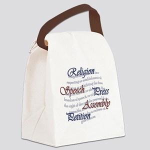 1st Amendment Canvas Lunch Bag