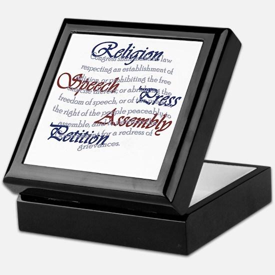 1st Amendment Keepsake Box
