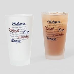 1st Amendment Drinking Glass