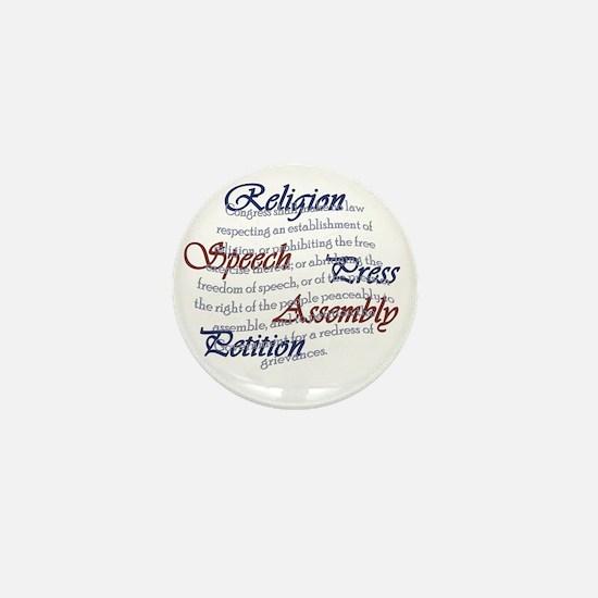 1st Amendment Mini Button