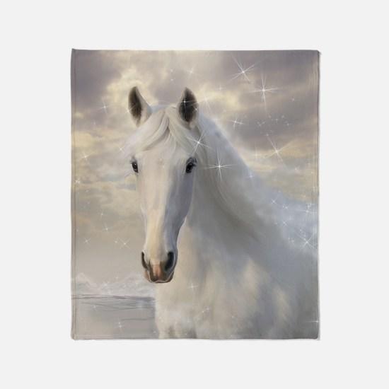 Sparkling White Horse Blanket
