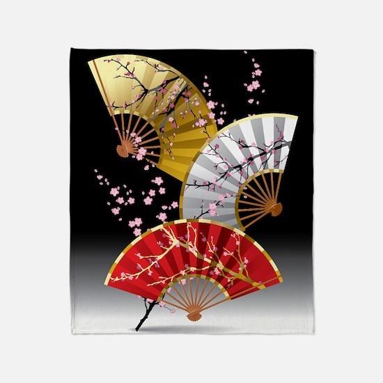 Japanese Cherry Fans Blanket