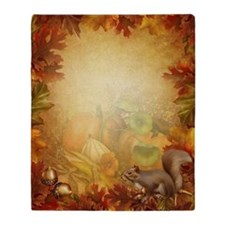 Thanksgiving Squirrel Blanket