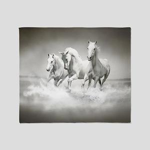 Wild White Horses Blanket