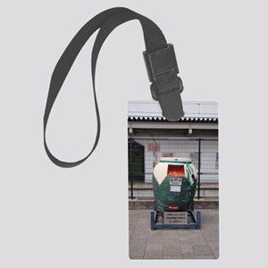 The post in kyoto Large Luggage Tag