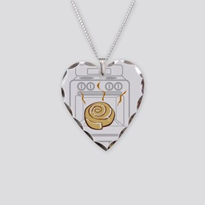 bun-in-oven Necklace Heart Charm