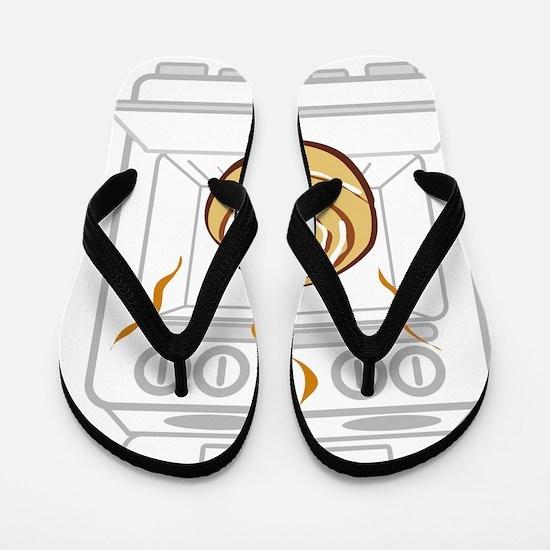 bun-in-oven Flip Flops