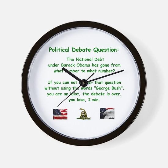 Unique National debt Wall Clock