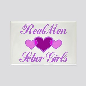 Real Men Love Sober Girls Rectangle Magnet