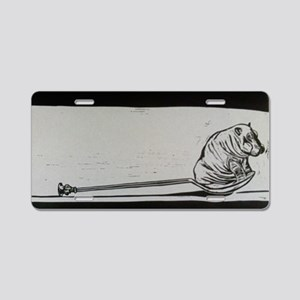 spoonful of hippo Aluminum License Plate