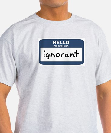 Feeling ignorant Ash Grey T-Shirt