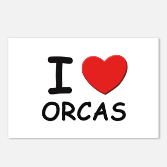 I love orcas Postcards (Package of 8)