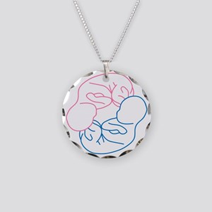 b-g-twin-belly-baby Necklace Circle Charm
