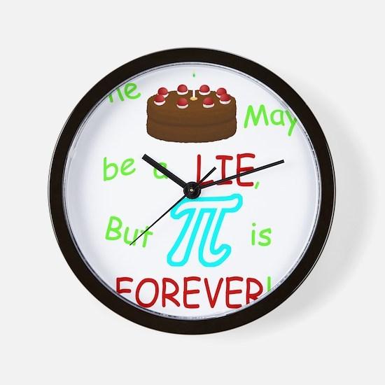 Cake vs Pi Wall Clock